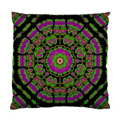 Flowers And More Floral Dancing A Happy Dance Standard Cushion Case (one Side) by pepitasart