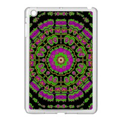 Flowers And More Floral Dancing A Happy Dance Apple Ipad Mini Case (white) by pepitasart