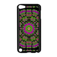 Flowers And More Floral Dancing A Happy Dance Apple Ipod Touch 5 Case (black) by pepitasart