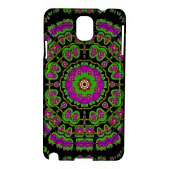 Flowers And More Floral Dancing A Happy Dance Samsung Galaxy Note 3 N9005 Hardshell Case by pepitasart