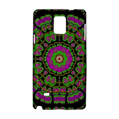 Flowers And More Floral Dancing A Happy Dance Samsung Galaxy Note 4 Hardshell Case by pepitasart