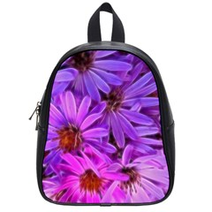 Pink Garden Flowers School Bag (small) by bloomingvinedesign