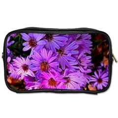 Pink Garden Flowers Toiletries Bag (one Side) by bloomingvinedesign