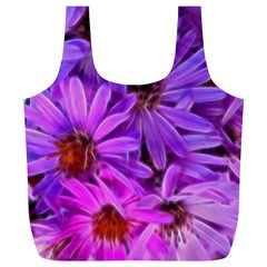 Pink Garden Flowers Full Print Recycle Bag (xl) by bloomingvinedesign