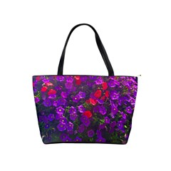 Purple Petunias Classic Shoulder Handbag by bloomingvinedesign