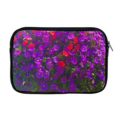 Purple Petunias Apple Macbook Pro 17  Zipper Case by bloomingvinedesign