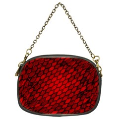 Red Dragon Scales Chain Purse (one Side) by bloomingvinedesign