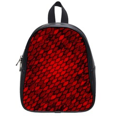 Red Dragon Scales School Bag (small) by bloomingvinedesign