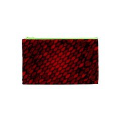 Red Dragon Scales Cosmetic Bag (xs) by bloomingvinedesign