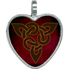 Beautiful Art Pattern Heart Necklace