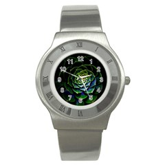 Nature Desktop Flora Color Pattern Stainless Steel Watch