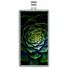 Nature Desktop Flora Color Pattern Rectangle Necklace