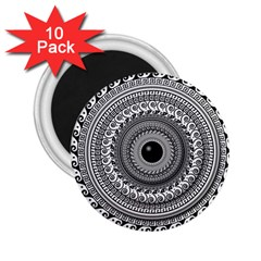 Graphic Design Round Geometric 2 25  Magnets (10 Pack)