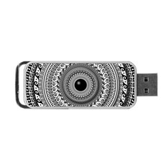 Graphic Design Round Geometric Portable Usb Flash (one Side)