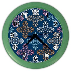Background Wallpaper Abstract Art Color Wall Clock