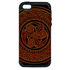 Beautiful Art Pattern Apple Iphone 5 Hardshell Case (pc+silicone)