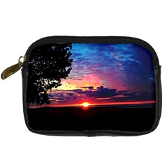 Sunrise Lakeshore Digital Camera Leather Case by bloomingvinedesign