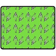 Skeleton Green Fleece Blanket (medium)