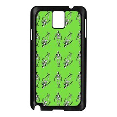 Skeleton Green Samsung Galaxy Note 3 N9005 Case (black)