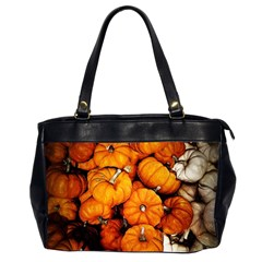Pile Of Tiny Pumpkins Oversize Office Handbag (2 Sides) by bloomingvinedesign