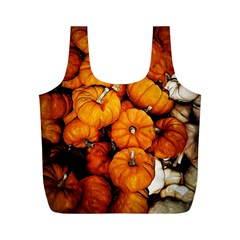 Pile Of Tiny Pumpkins Full Print Recycle Bag (m) by bloomingvinedesign