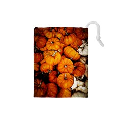 Pile Of Tiny Pumpkins Drawstring Pouch (small) by bloomingvinedesign