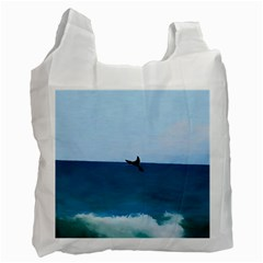 Whales Tail Recycle Bag (two Side) by bloomingvinedesign