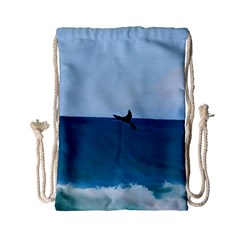 Whales Tail Drawstring Bag (small) by bloomingvinedesign
