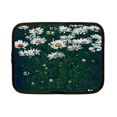 White Daisy Field Netbook Case (small) by bloomingvinedesign