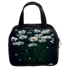 White Daisy Field Classic Handbag (two Sides) by bloomingvinedesign