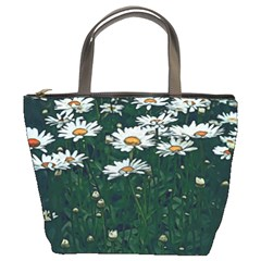 White Daisy Field Bucket Bag by bloomingvinedesign