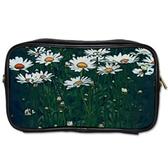 White Daisy Field Toiletries Bag (one Side) by bloomingvinedesign