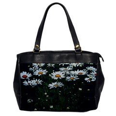 White Daisy Field Oversize Office Handbag by bloomingvinedesign