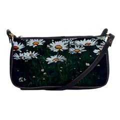 White Daisy Field Shoulder Clutch Bag by bloomingvinedesign