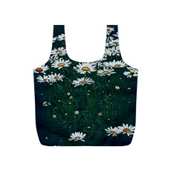 White Daisy Field Full Print Recycle Bag (s) by bloomingvinedesign