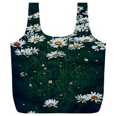 White Daisy Field Full Print Recycle Bag (xl) by bloomingvinedesign