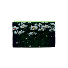 White Daisy Field Cosmetic Bag (xs) by bloomingvinedesign