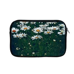 White Daisy Field Apple Macbook Pro 13  Zipper Case by bloomingvinedesign