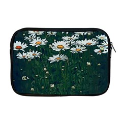 White Daisy Field Apple Macbook Pro 17  Zipper Case by bloomingvinedesign
