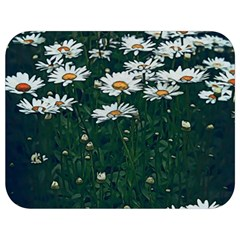 White Daisy Field Full Print Lunch Bag by bloomingvinedesign