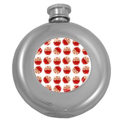 Kawaii Jam Jar Pattern Round Hip Flask (5 Oz) by snowwhitegirl