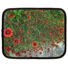Orange Flower Garden Netbook Case (xxl) by bloomingvinedesign