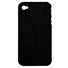 Black Glitter Apple Iphone 4/4s Hardshell Case (pc+silicone)