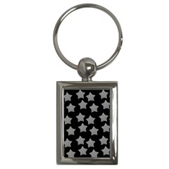 Silver Starr Black Key Chains (rectangle)