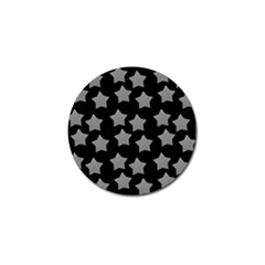Silver Starr Black Golf Ball Marker (4 Pack)
