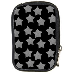 Silver Starr Black Compact Camera Leather Case