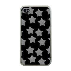 Silver Starr Black Apple Iphone 4 Case (clear)