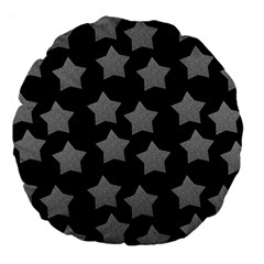 Silver Starr Black Large 18  Premium Round Cushions