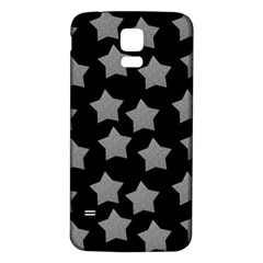 Silver Starr Black Samsung Galaxy S5 Back Case (white)