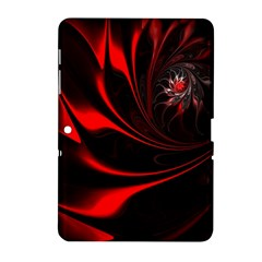 Red Black Abstract Curve Dark Flame Pattern Samsung Galaxy Tab 2 (10 1 ) P5100 Hardshell Case  by Nexatart